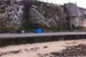 Family of four camp on beach leaving rubbish behind